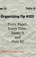 School Organizing, Name It, Date It